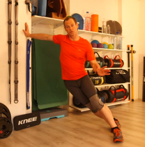 Ski fitness exercise - hips to wall