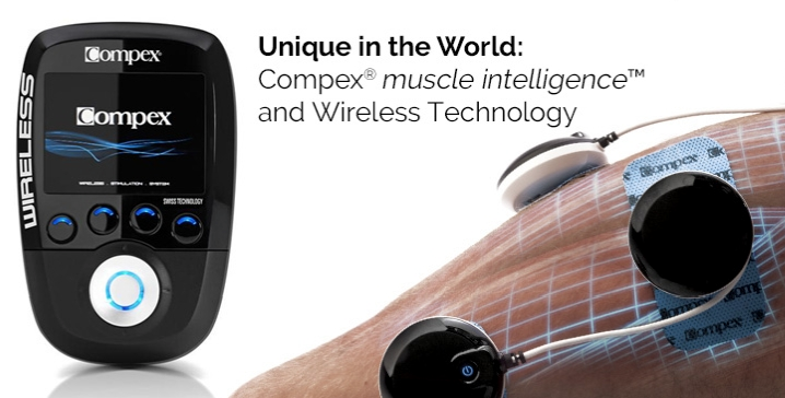cpmpex wireles electrical muscle stimulation for sports training and recovery