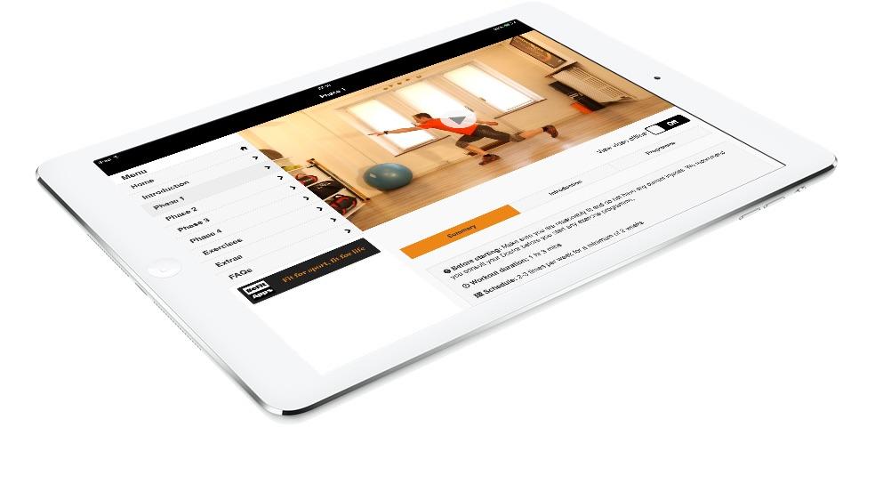 SkiFit app on the iPad